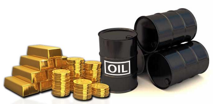 Vàng và Dầu thô là những hàng hoá được giao dịch nhiều nhất