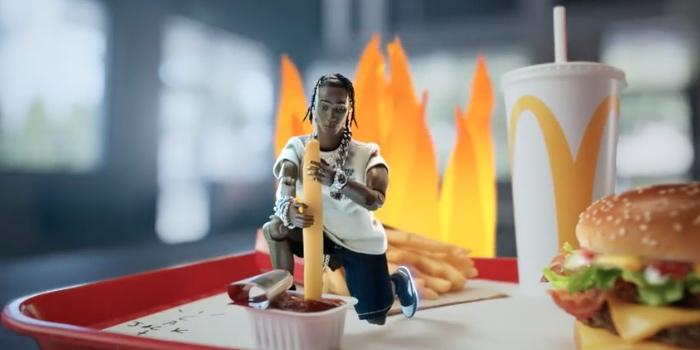 Ảnh chụp từ video quảng cáo của Bữa ăn Travis Scott