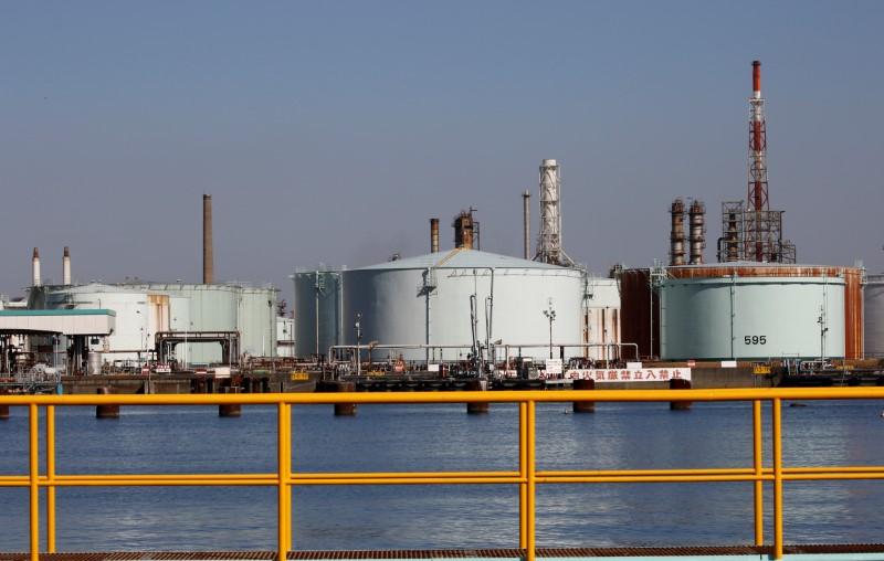 Refinaria da JX Nippon Oil & Energy em Yokohama, Japão