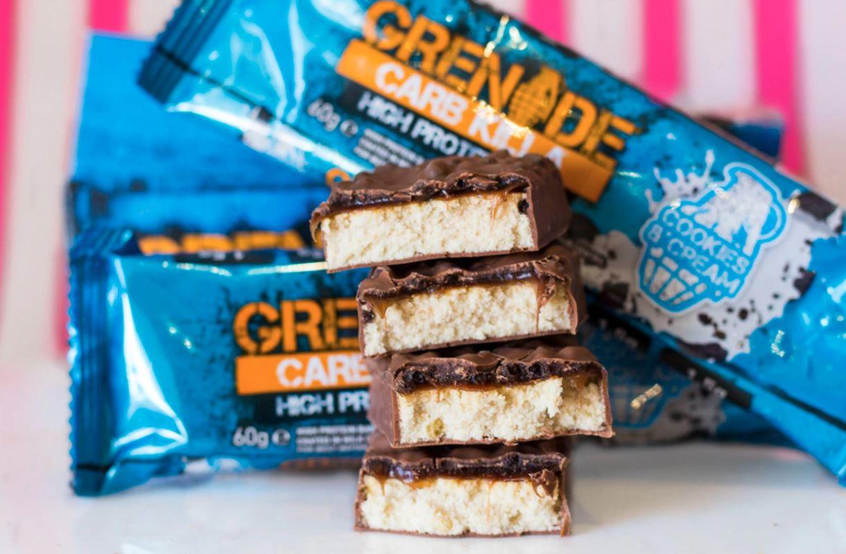 Sản phẩm thanh protein Carb Killa® của Grenade là sản phẩm bán chạy nhất ở Anh kể từ năm 2016.